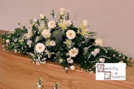 Mixed White Coffin Spray S007