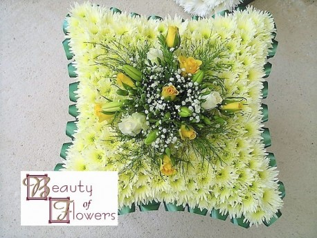 Yellow and Green Based Cushion