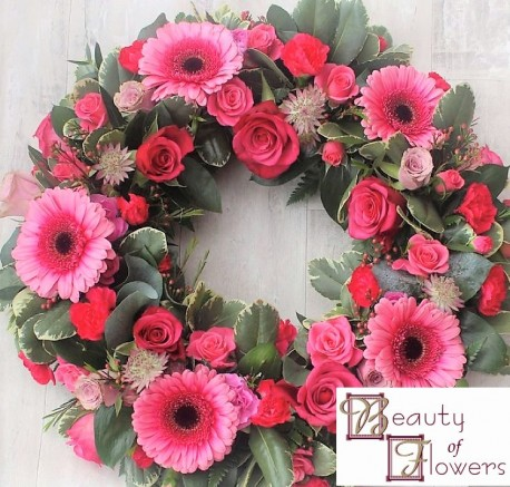 Cerise Wreath