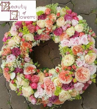 Pastel Shades Wreath