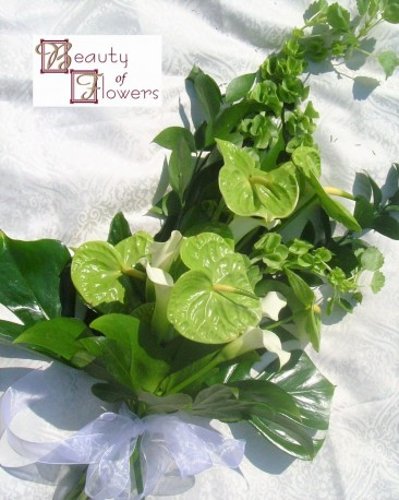 Calla Lily and Anthurium Modern Sheaf