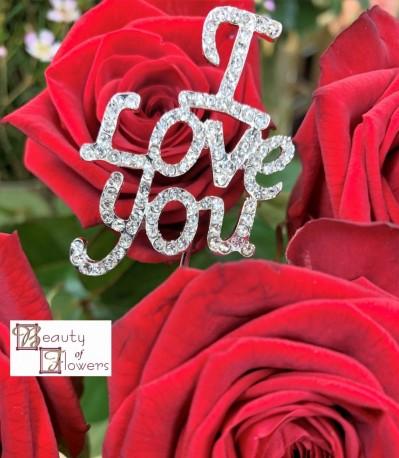 I Love You Diamante Pick
