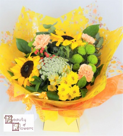 Autumn Watered Hand Tied