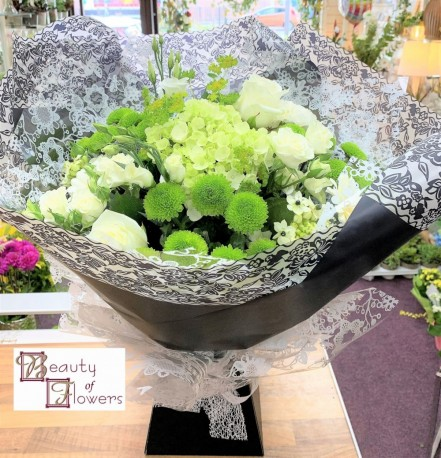 Black Lace Watered Hand Tied