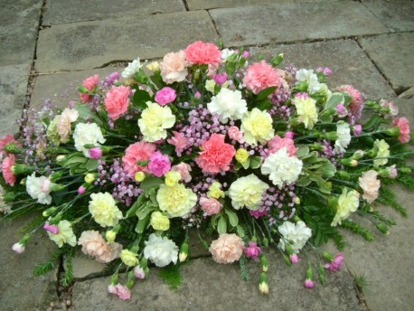Carnation Coffin Spray