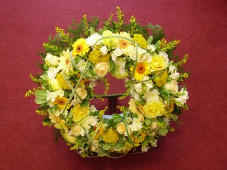 Yellow Open Wreath