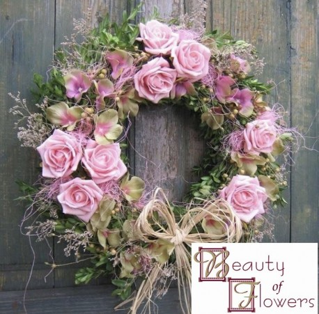 Pink Cottage Wreath