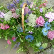 Cottage Garden Basket S029