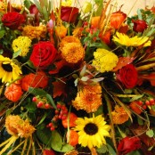 Autumn Mixed Flower Coffin Spray