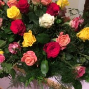 Mixed Rose Coffin Spray