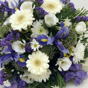Blue Funeral Posy S039