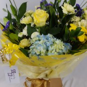 Lemon and Blue Hand Tied