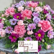 Pink and Lilac Funeral Posy S037