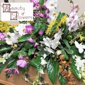 Orchid Coffin Spray