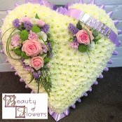 Lilac and Pink Closed Heart S088