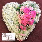 Gypsophila Based Heart