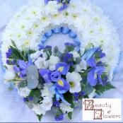 Blue Based Wreath S043