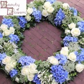 Light Blue and White Wreath
