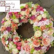 Pastel Shades Wreath
