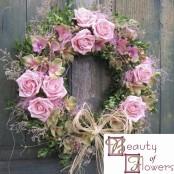 Pink Cottage Wreath
