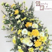 Yellow Flower Oasis Spray S017