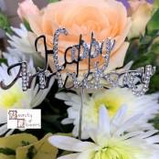 Happy Anniversary Diamante Pick