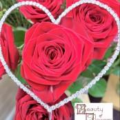 Love Heart Diamante Pick