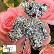 Teddy Bear Diamante Pick