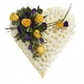 Funeral Heart Yellow and Lilac